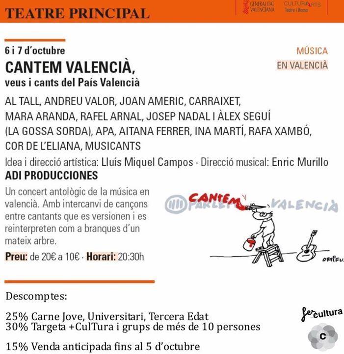 Cantem Valencià. Teatre Principal (València)